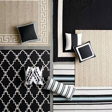 outdoor solid pillow cover with white border black rugs and rug canada