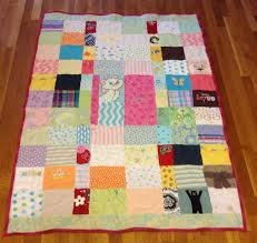 Hand Crafted Custom Embroidered Patchwork Baby Clothing Quilt by ... & Custom Made Custom Embroidered Patchwork Baby Clothing Quilt Adamdwight.com