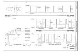 farnsworth house plans and sections