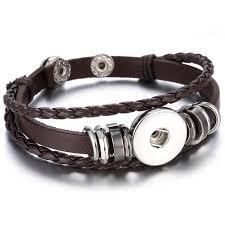 hot noosa snap on bracelets multilayer leather noosa chunk leather snap bracelet fit 18mm snap on jewelry whole bracelets charm bracelets
