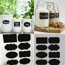 40Pcs/Set Blackboard Sticker Craft Kitchen Jar Organizer Labels Chalkboard  Chalk Board Stickers Black Kitchen