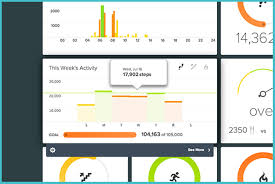 Fitbit Chart Fitbit Dashboard Updated With Weekly Activity And More