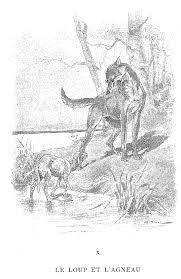 Dessin Le Loup Et Lagneau De La Fontainel L