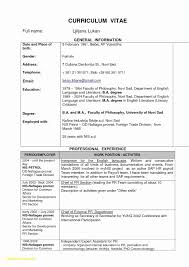 Resume Sample Waiter Hot Work Permit Template Free New Cv Resume format Fresh Waiter 53