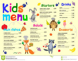 Free Templates For Kids Cute Colorful Meal Kids Menu Template With Cute Little Sweet Houses