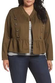 Nordstrom Rack Plus Size Coats Sejour Military Peplum Jacket Plus Size Nordstrom Rack 69