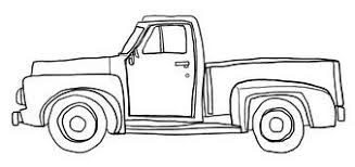 Image result for pickup truck clipart black and white | Trucks ...