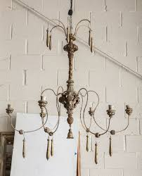 spider chandelier made from 18th century parts