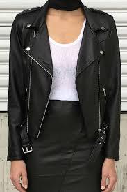 zaliah classic leather jacket