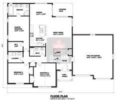 Open floor  Small home plans and Small homes on Pinterest