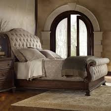 Hooker Furniture Adagio Tufted Upholstered Bed Sleigh Beds at