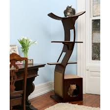 cool cat tree furniture. The Refined Feline Lotus Tower Cat Tree In Espresso Cool Furniture A