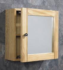 380mm solid oak bathroom wall hung