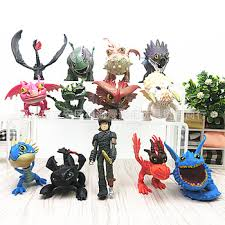 13pcs/lot Dragon 2 PVC Figure Toys Hiccup Toothless Skull ...