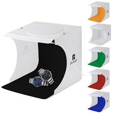 mini foldable photo studio box photography light tent kit lightroom emart diffuse studio softbox lightbox