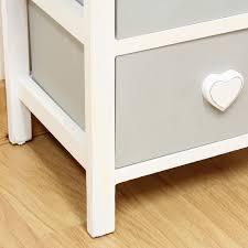 White Amp Grey Wooden Cabinet For Girls BedroomFurniture Chest - Bedroom tallboy furniture