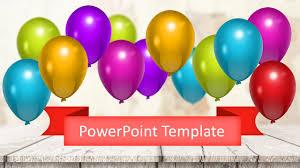 Celebration Balloons Powerpoint Template