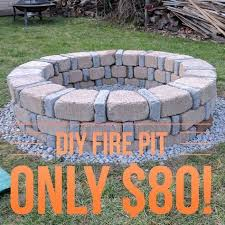 easy diy fire pit for only 80 from menards stuff to buy pinterest diy fire pit and backyard easy diy pit area72 area