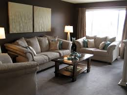 Living Room With Brown Leather Couch Living Room Sofa Coffee Table Cabinets Bookshelves Leather Couch