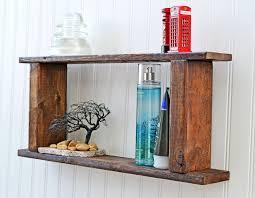 Rustic Bathroom Storage Pallet Shelf Etsy