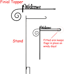 garden flag stand. Welcome Finial Garden Flag Stand O