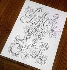 Small Picture Swear Word Coloring Book Will Help You Stop Swearing And Start