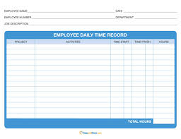 daily timesheet template free printable time sheets templates free