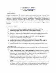 Sample Mental Health Counselor Resume Valid Youth Counselor Resume