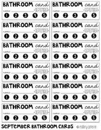 Bathroom Sign Out Sheet | School | Pinterest | Classroom Management ...