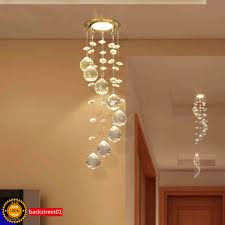 3w led crystal ceiling light small chandelier lamp pendant fixture hallway decor