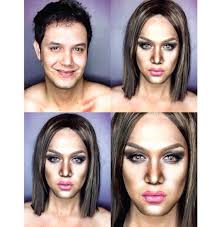 this guy can turn himself into any celebrity by using makeup al on ur man makes because i look like