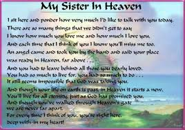 Loss Of A Sister Quotes Amazing Missing My Sister In Heaven Latest Blog Entries Words