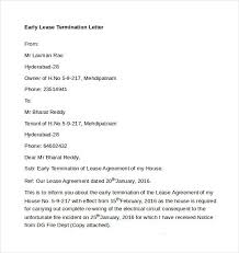 early termination of lease letter early lease termination letter optional 1 gopages info