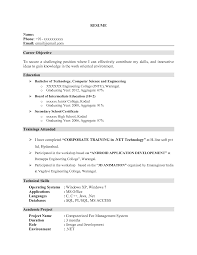 Resume For Life Science Freshers Hr Fresher Sample Resumes Download