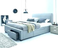 Grey Quilted Bed Frame Frames Bedrooms Stunning Cream Single Bedroom ...
