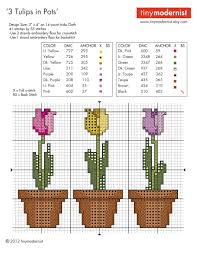 Cross Stitch Designs Free Download Pdf Free Spring Tulip Cross Stitch Pattern Pdf Download Tiny