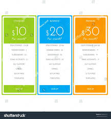 Price Chart Template Pricing Chart Template 16
