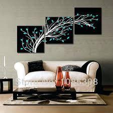 wall art decor canvas 4 season black white flower tree oil painting on canvas home wall wall art