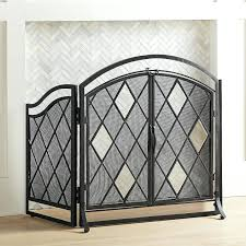 beveled glass fireplace screen beveled glass fireplace screens
