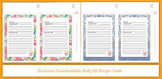 Recipe Cards Print Ruby Rd Living April 18 Recipe Cards