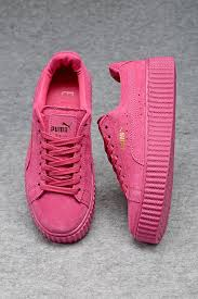 fenty puma shoes for girls. womens puma creepers fenty by rihanna suede creeper all pink fashion sneakers shoes for girls