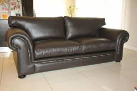 large genuine leather afrique style couch 2 1m full grain studded sofa brand new