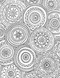 Adult Coloring Pages Circled Mandala Coloringstar