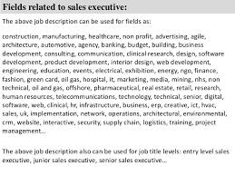 Sales Executive Job Description Sales Executive Job Description