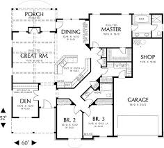 House floor plans  Plan plan and Floor plans on Pinterestsingle story house floor plans   Plan W AM  Northwest  Cottage  Photo Gallery House