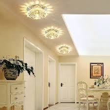 led recessed mini ceiling lighting fixture crystal shade