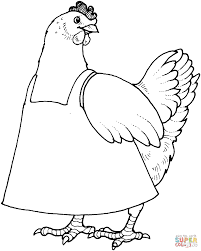 Small Picture Mother Hen coloring page Free Printable Coloring Pages