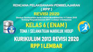 Maybe you would like to learn more about one of these? Rpp 1 Lembar Kelas 6 Tema 1 Sd Mi Kurikulum 2013 Tahun Pelajaran 2021 2022 Datadikdasmen Com