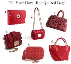 Sweetie Pie Style: Fall Must Have: The Red Quilted Bag! & Kate Spade Charlize Shoulder Bag Adamdwight.com