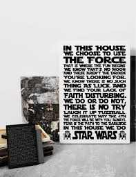 on house rules wall art suppliers with in this star wars house rules sign disney art print canvas